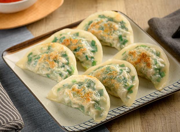 手工韭菜煎饺